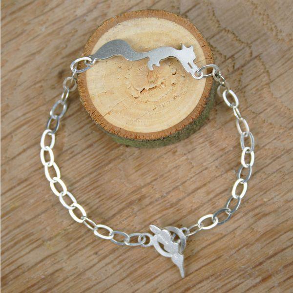 Sterling Silver Squirrel Bracelet