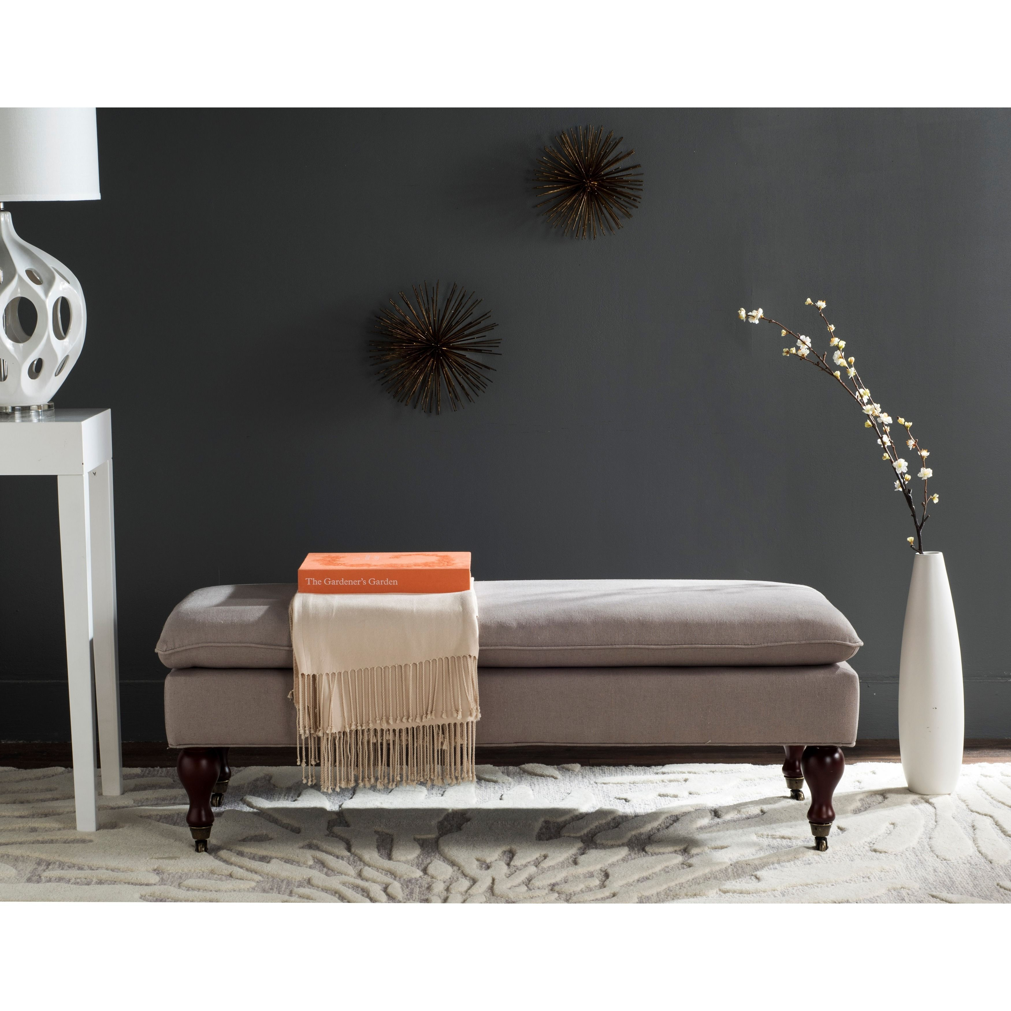 Add An Elegant Touch To Any Room With This Stylish Linen Ottoman