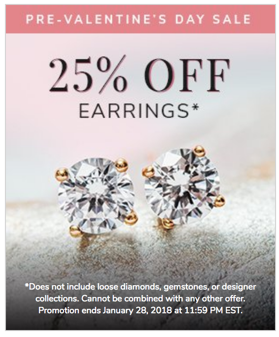 The Valentines Sale is the time to buy those studs you've had your eye on. 25% savings add up. Shop now.