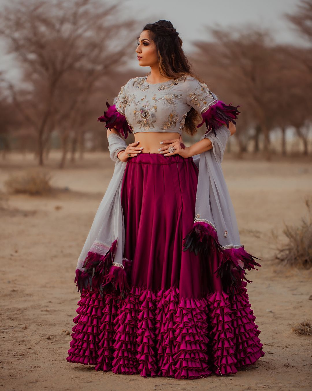 Purple Ivory Lehenga. #Frugal2Fab | Bridal Lehenga in 2019 ...