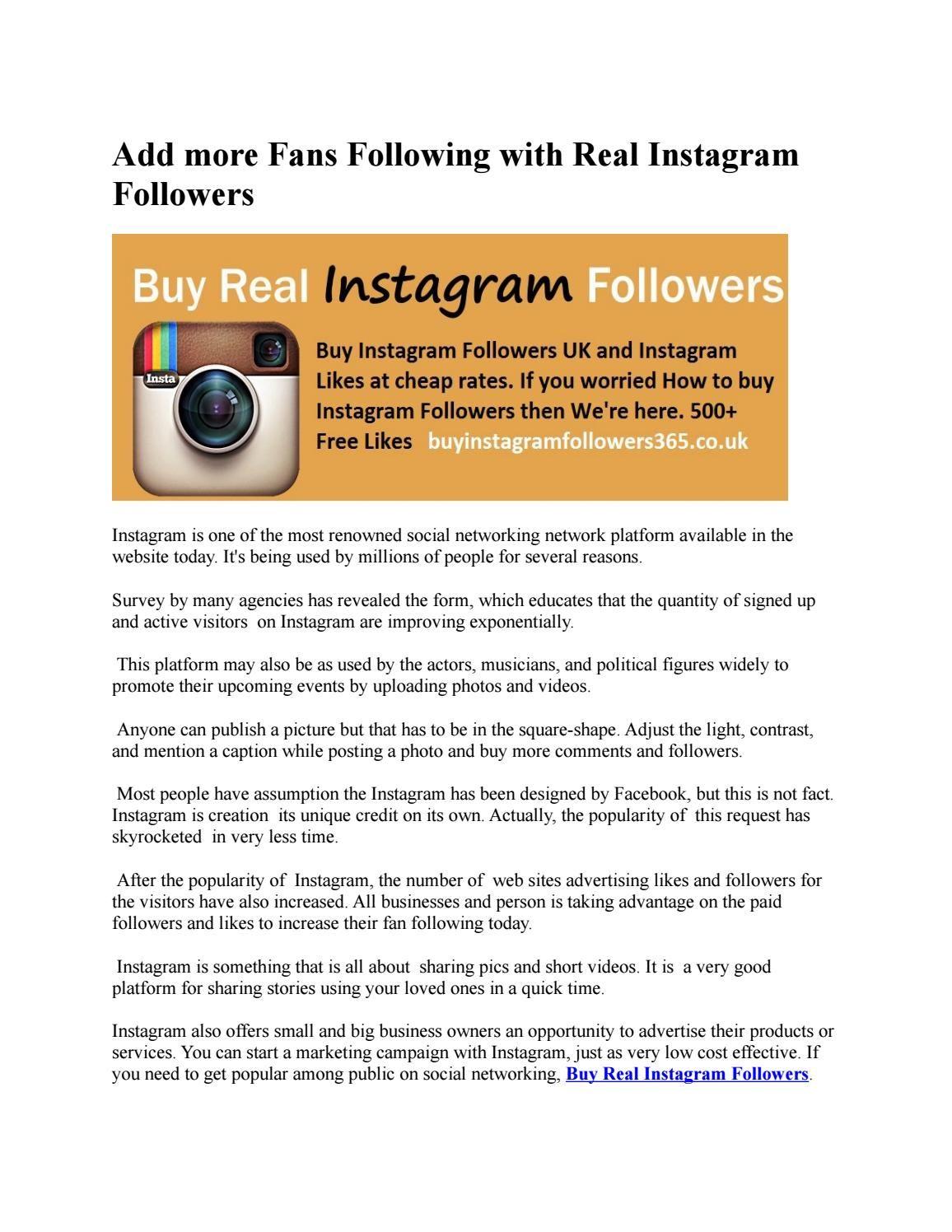 Buy Instagram Followers UK | BuyInstagramFollwoers365 Co Uk