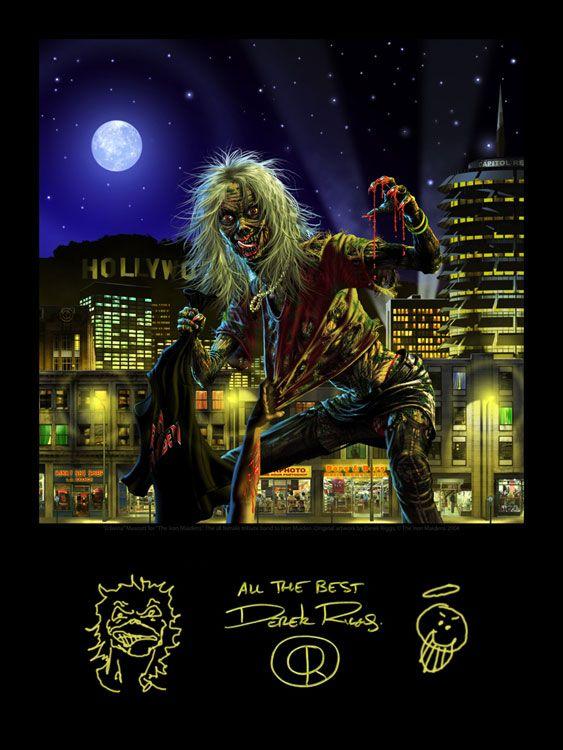 Edwina Poster By Derek Riggs Derek Riggs Pinterest