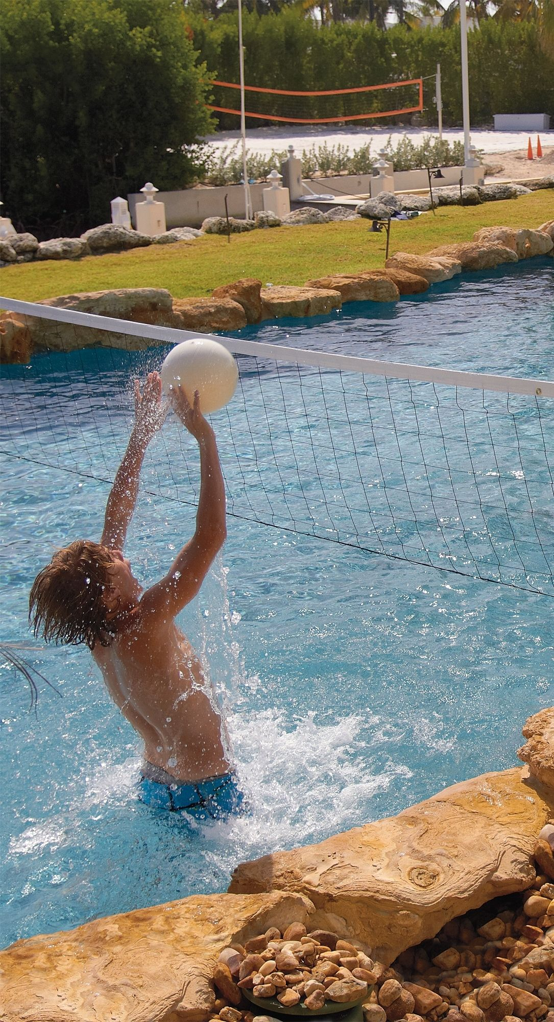 Water Volleyball Pool Game Frontgate Water Volleyball Pool Pool Games