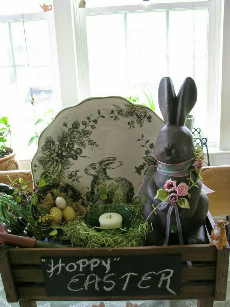 Pin By Diane Altomari On Easter Spring Easter Decor Easter Centerpieces Rustic Easter Decor