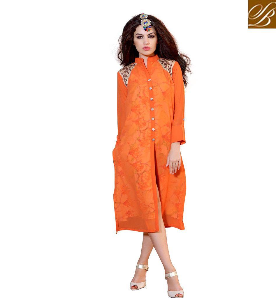 Shirt design kurti - Exquisite Long Shirt Fancy Style Designer Kurti Design Rtblm701