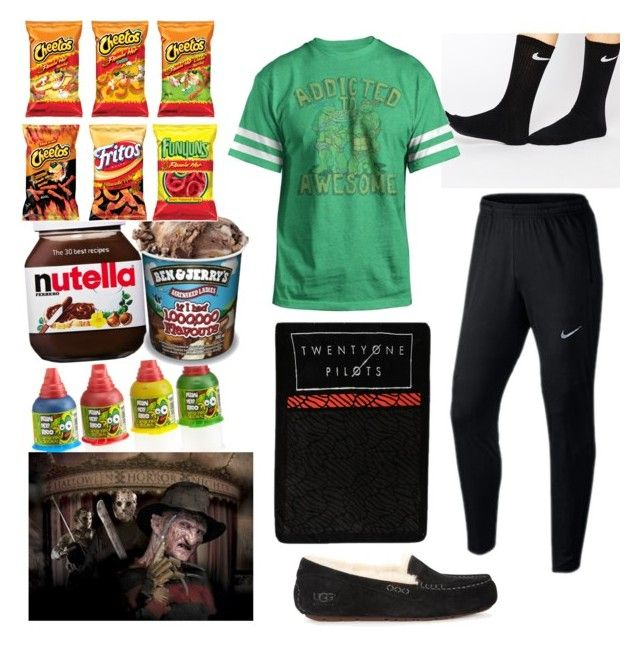 """Sleepovers "" by tomboy4ev ❤ liked on Polyvore featuring NIKE, Hybrid, ASOS and UGG Australia"