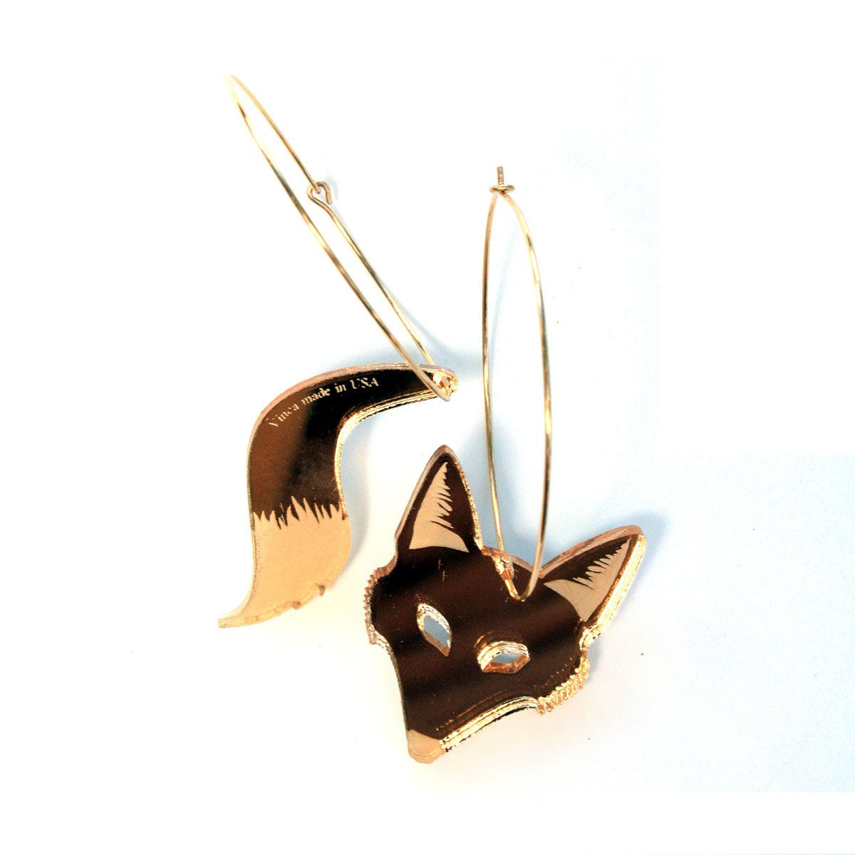 Fab big fox hoops mirror gold too obvious huh my style