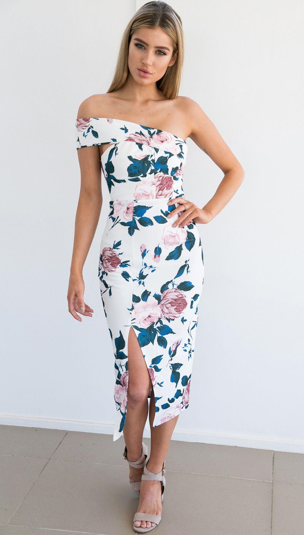 Cartwright Dress (White) Online fashion boutique