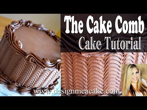 Cake Comb Tutorial & A Link to Crusting Chocolate Buttercream Frosting #cakedecoratingvideos
