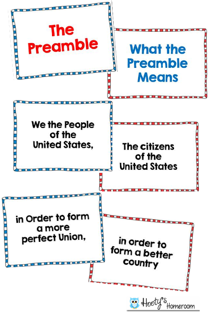 picture about Preamble Printable named Preamble Game large college absolutely free printable Consution