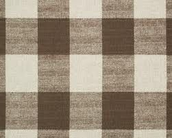 Large Scale Brown Buffalo Check Fabric Buffalo Check