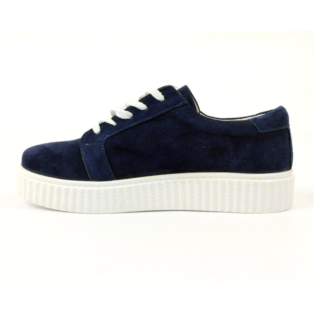 Creepersy Leather Shoes Filippo 036 Navy Womens Sneakers Leather Shoes Leather