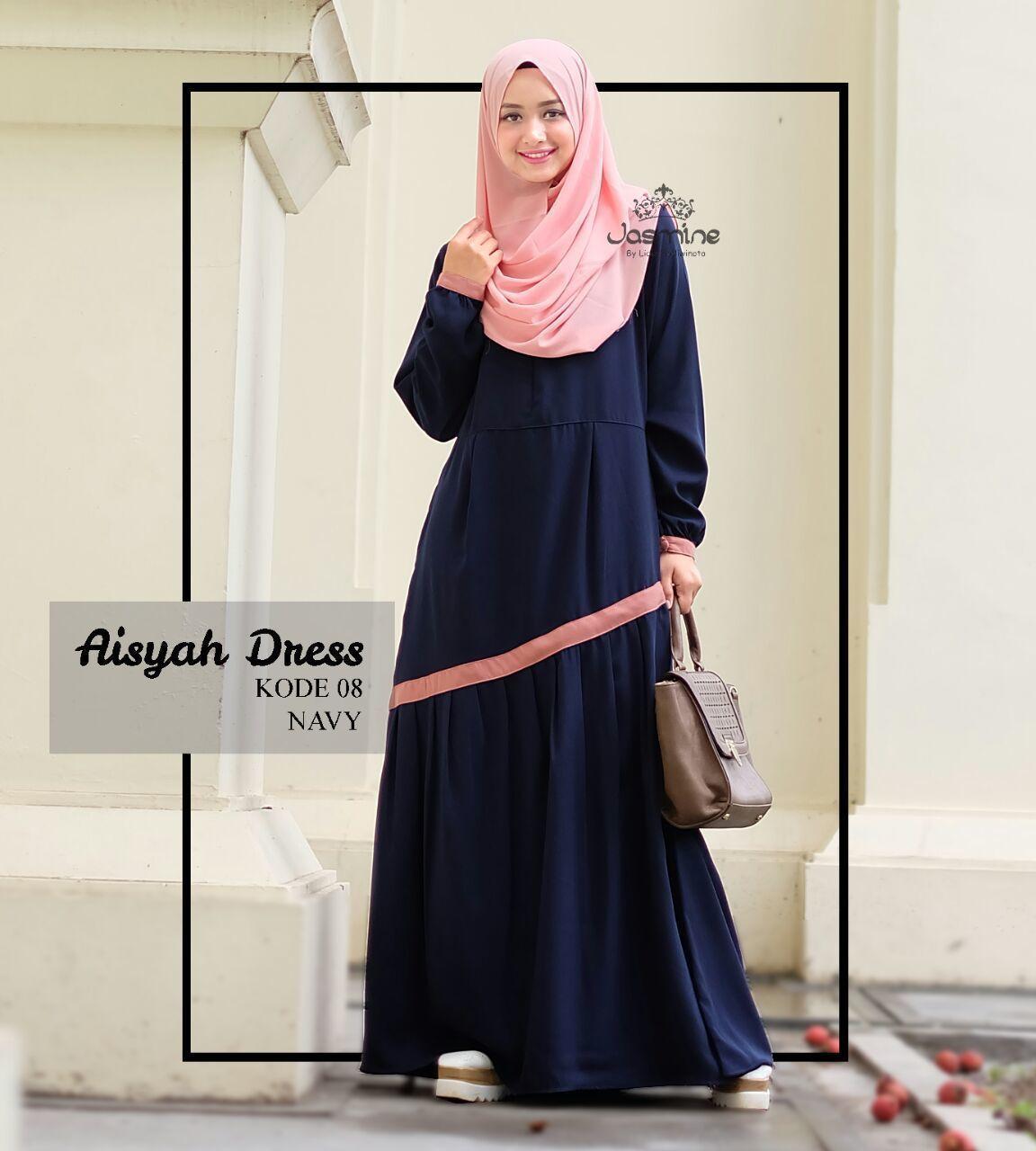 Gamis Jasmine Aisyah Dress 8 - baju gamis wanita busana muslim Untukmu yg  cantik syari dan 1cd76d8d4a