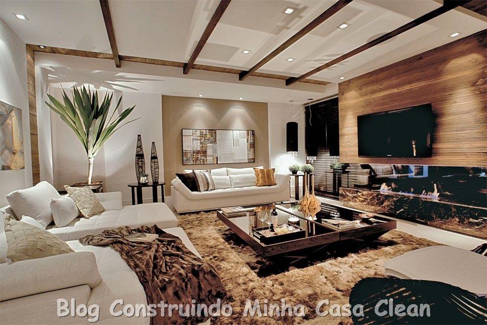 Sofas Modernos Para Sala De Tv Solid Wood Sofa Sets Resultado Imagem Revestimento Parede Porcelanato Casa