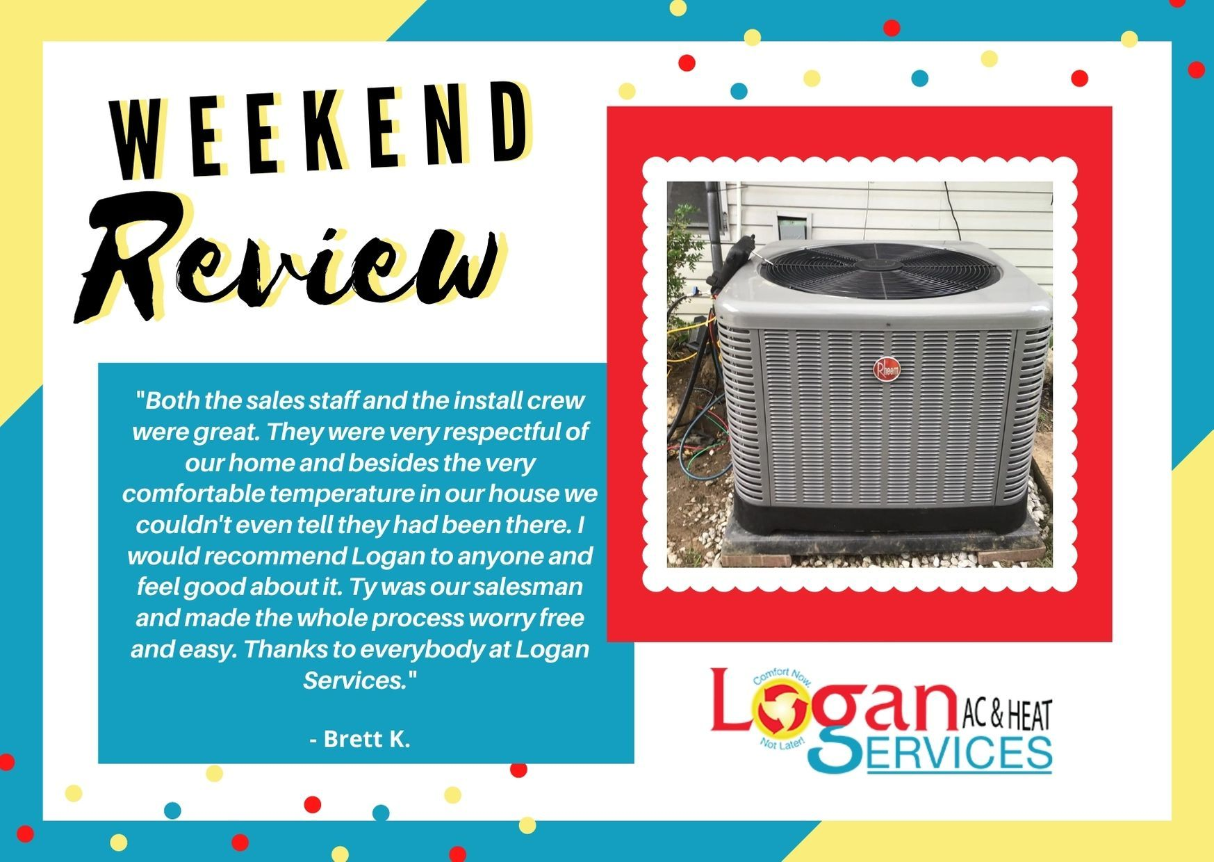 Weekend Review in 2020 Heating services, Customer