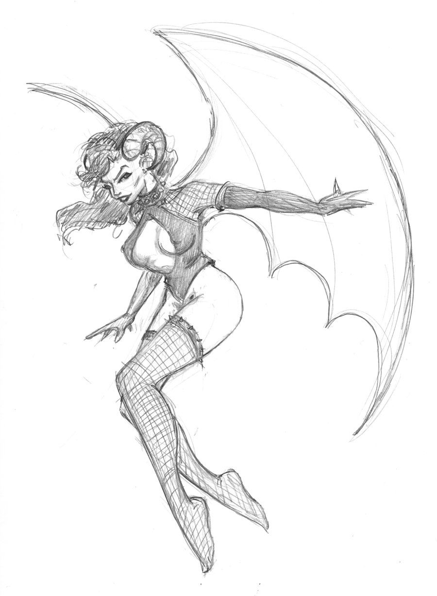 Pin By Emma Crane On I Want To Draw Girl Drawing Demon Girl