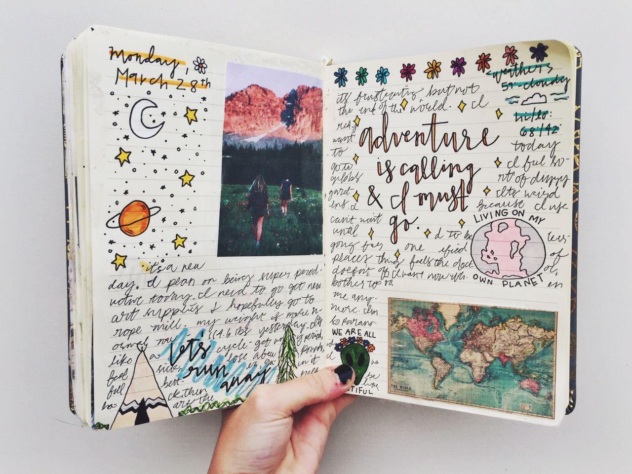 How to make scrapbook journal - 25 01 16 Road Trip Coffee Bullet Journal