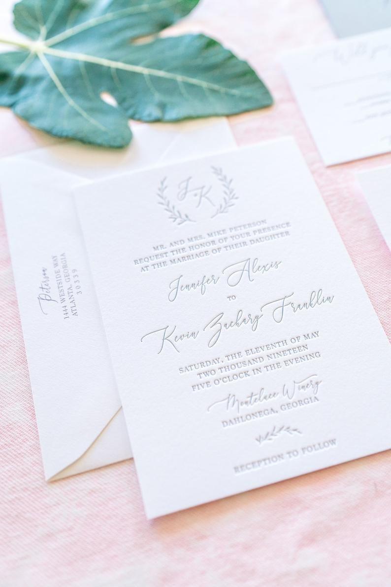 Affordable Letterpress Wedding Invitations~Voted Best of ... |Inexpensive Wedding Invitations Letterpress