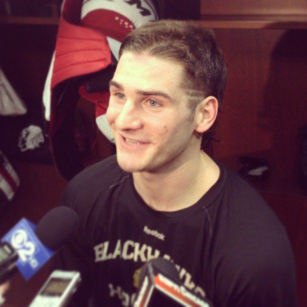 Brandon Saad Going Patrick Kane Circa 2010 Route With The Playoff Flow