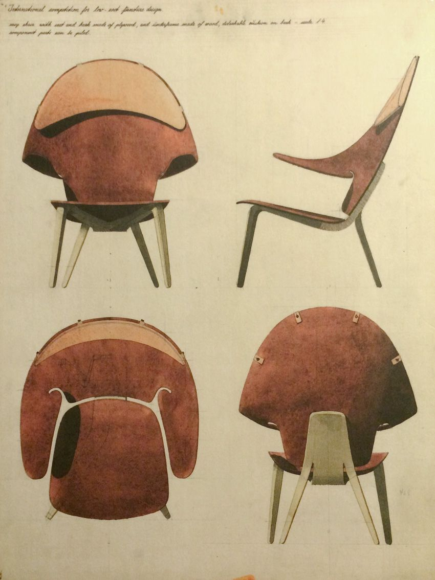 Hans J. Wegner - Proposal for the Museum of Modern Art competition in N.Y. in 1948 - www.capperidicasa.com