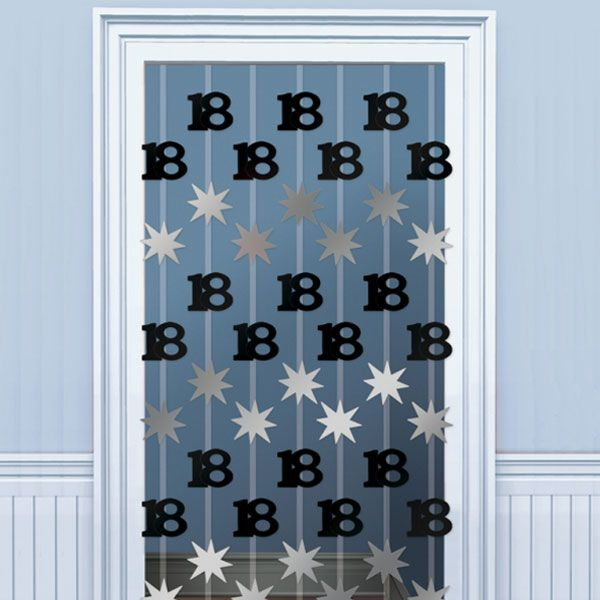 decorations 18th blacksilver door curtain 2m 299 each