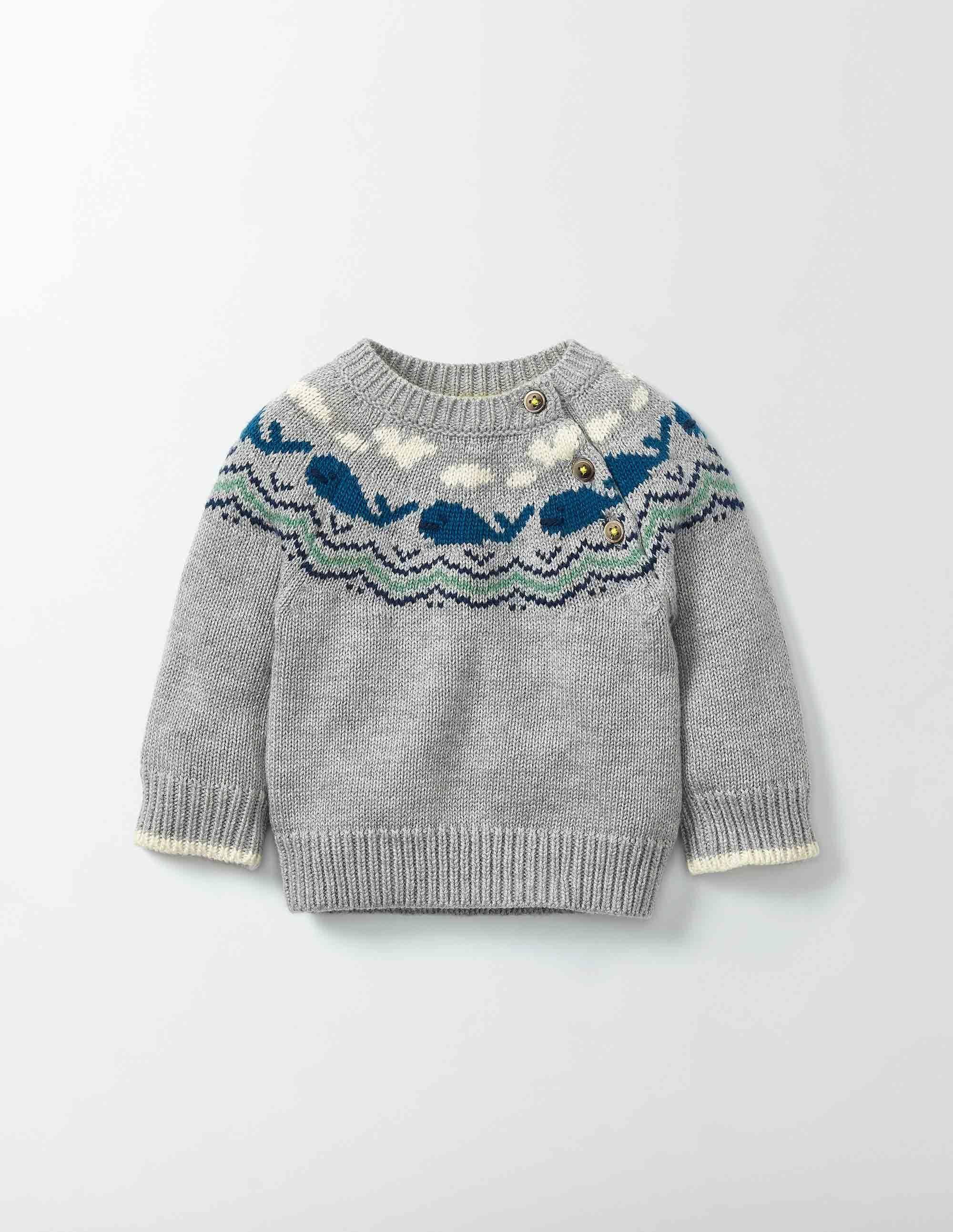 Strickpullover mit Walen | Baby pullover stricken ...