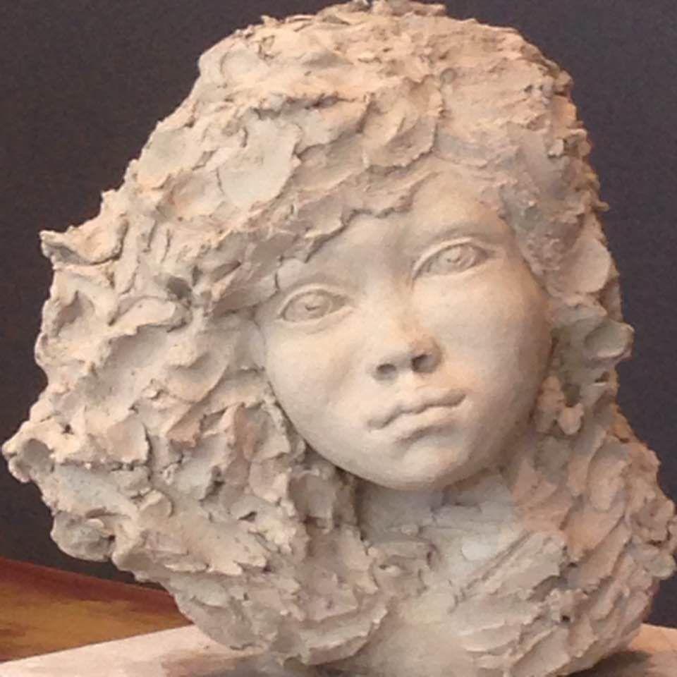Super La Demoiselle mélancolique Brig. sculptures Modelage argile  RI21