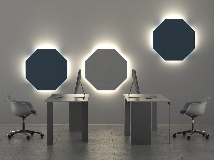Felt Decorative Acoustic Panel With Integrated Lighting In 2020 Acoustic Wall Panels Acoustic Panels Acoustics Design
