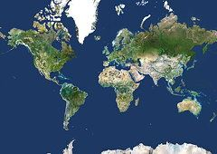 World Map Metal Prints - Whole Earth Map Metal Print by Planetobserver