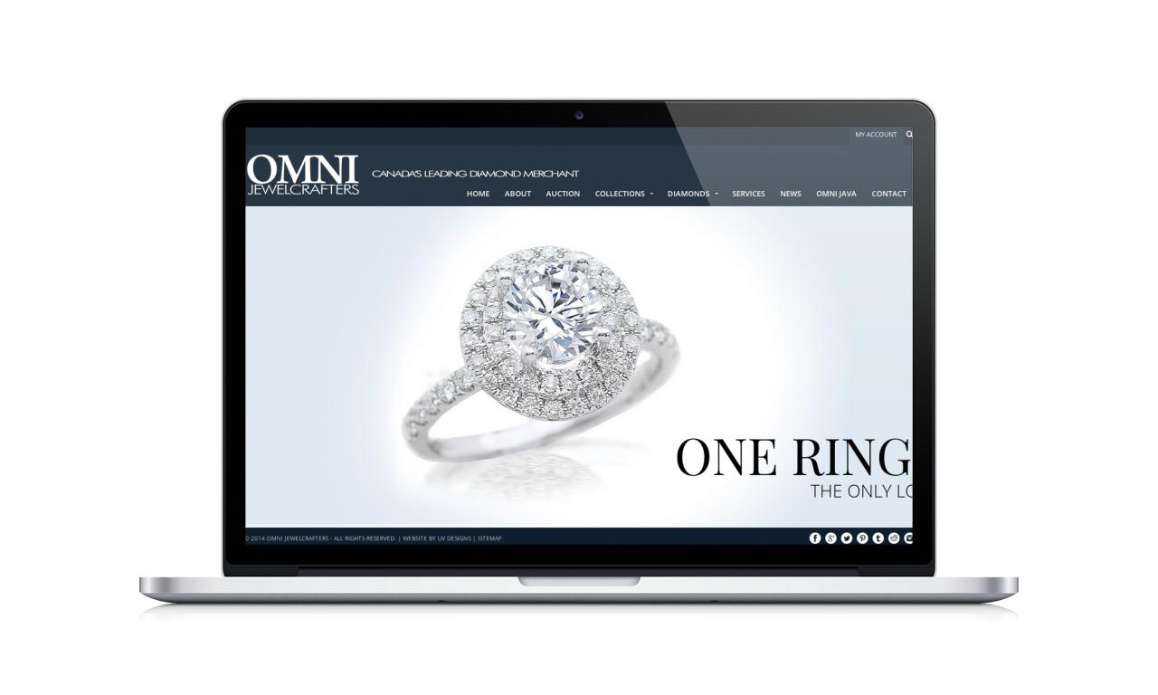 OMNI Jewelcrafters | Vaughan, Toronto, Freelance Web Designer & Developer | UV Designs
