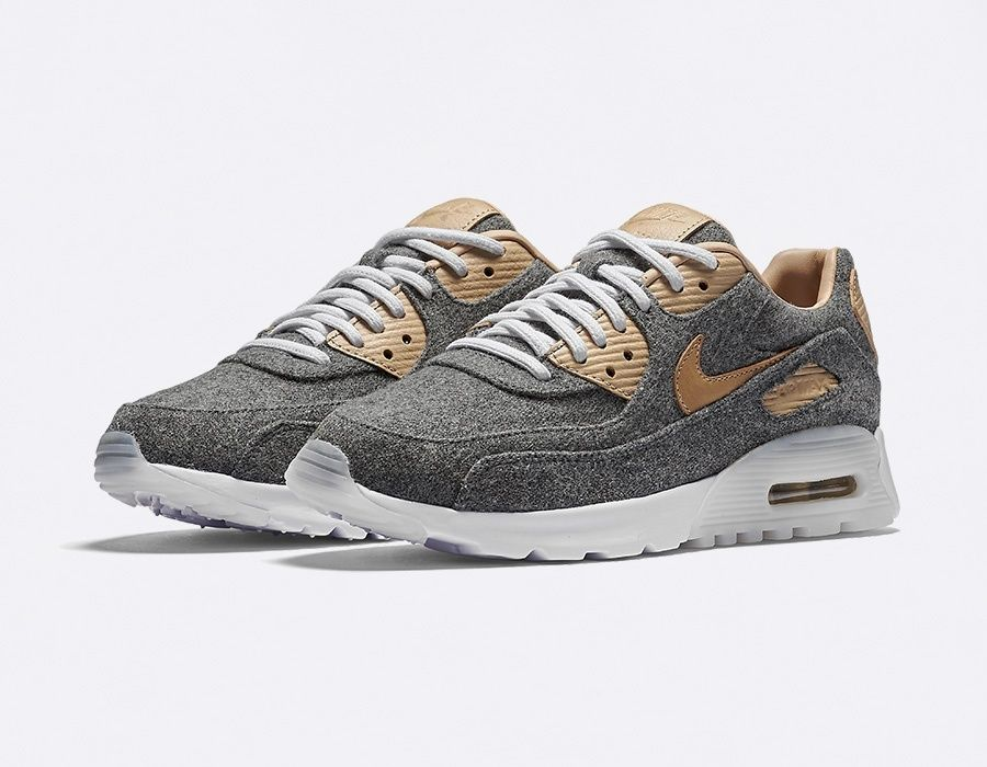 Nike Air Max 90 Premium Wool in Grey & Tan | HYPEBEAST