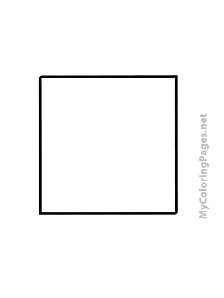 Square coloring pages  Coloring pages, R words, Easy coloring pages