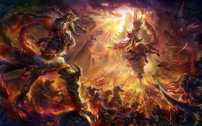 Fantasy Battle Hd Wallpaper Fantasy Monster Fantasy Fantasy Battle