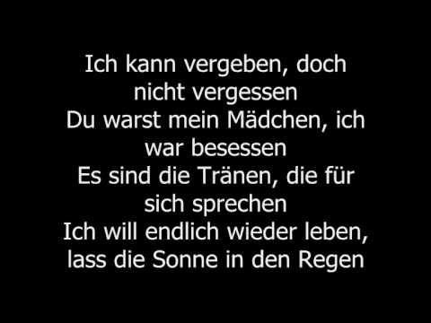 Bushido - Vergeben und Vergessen Lyrics/Songtext - YouTube