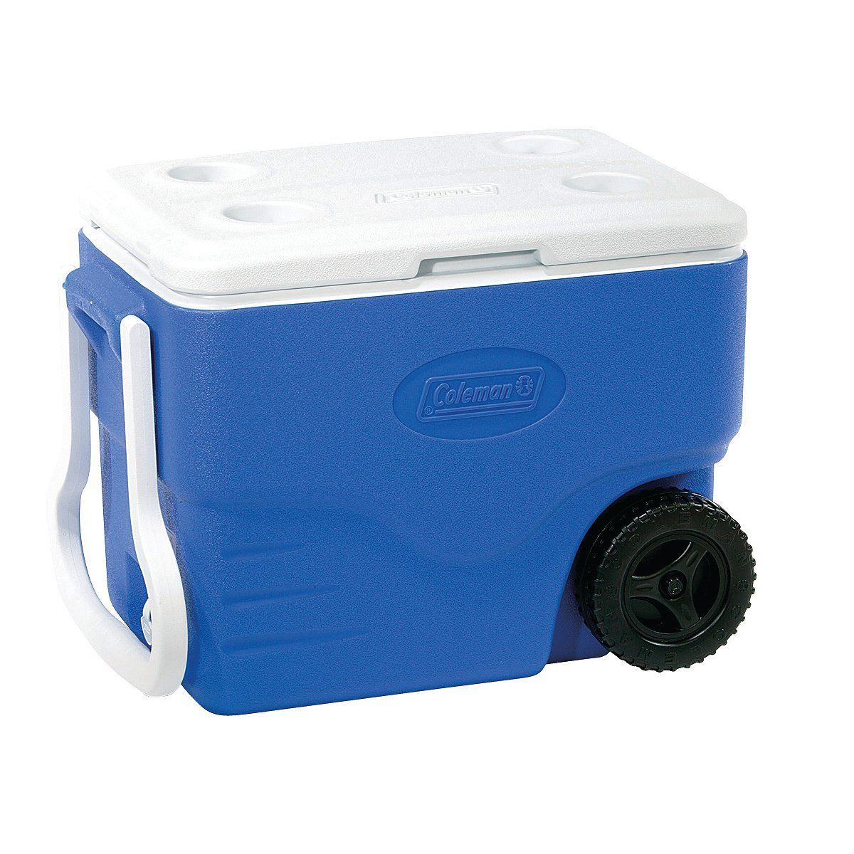Coleman 40 Qt Wheeled Cooler With Beverage Tray Don T Get Left Behind See This Great Product Camping Stuff Cambro Camping Coolers Rolling Cooler