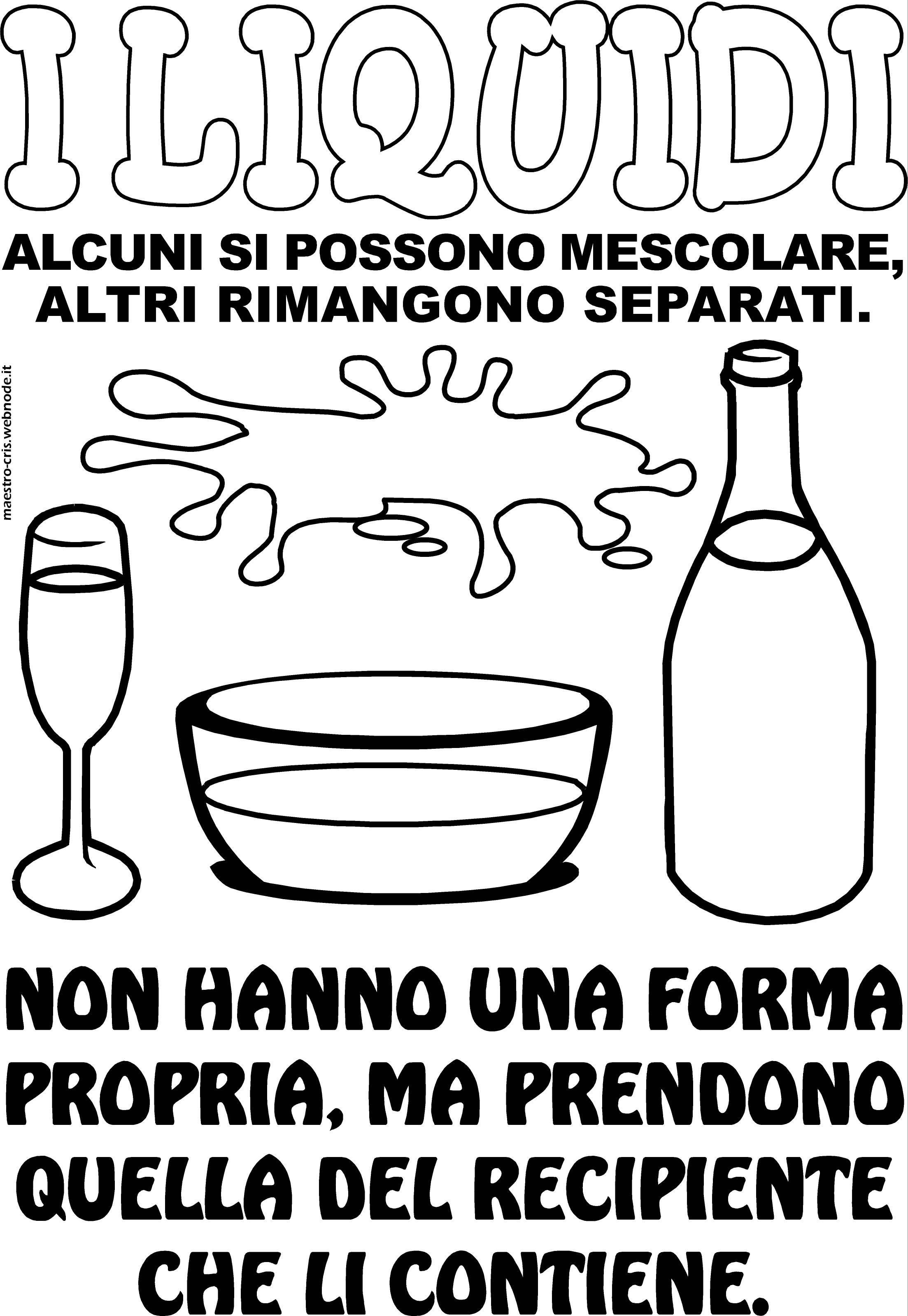 Favoloso SCHEDA MURALE I LIQUIDI CLASSE SECONDA.jpg | Didattica | Pinterest  WQ03