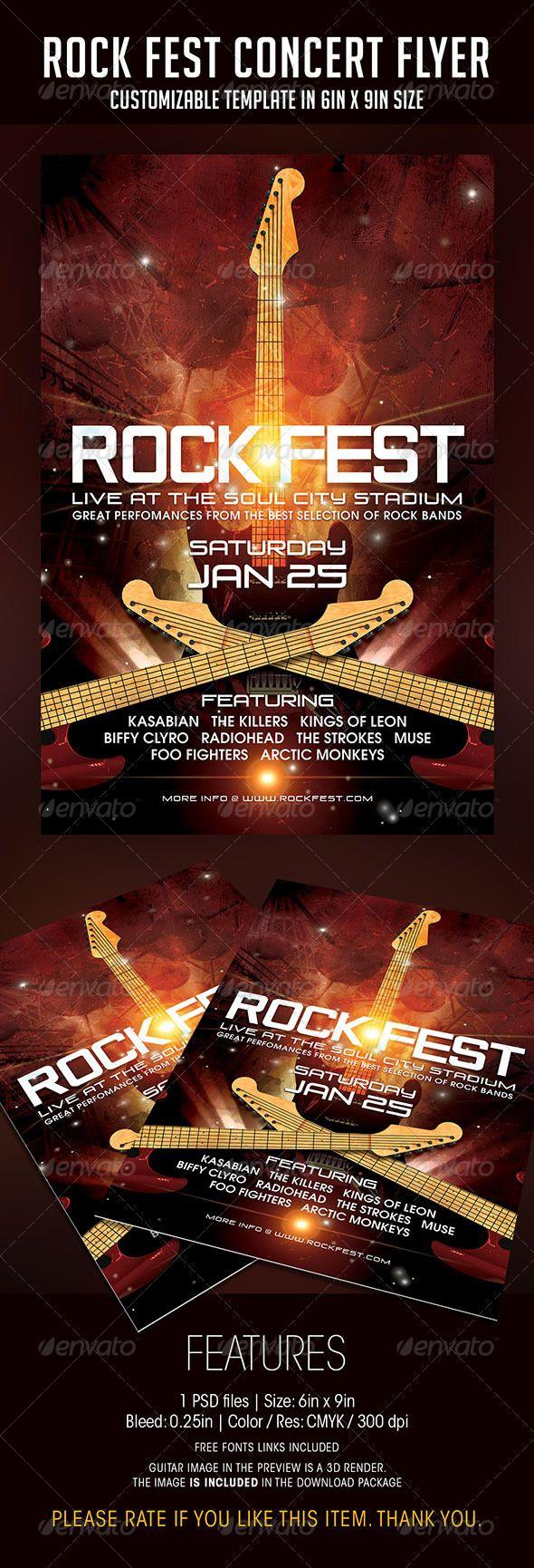 Rock Fest Concert Flyer Graphicriver Rock Fest Concert Flyer