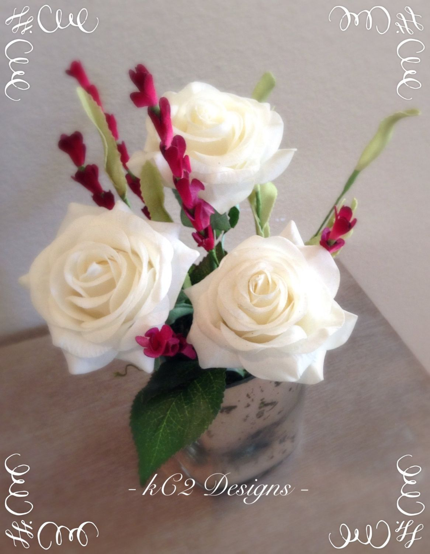 Real Touch Flowers Silk Flower Arrangements Valentines Day Heart