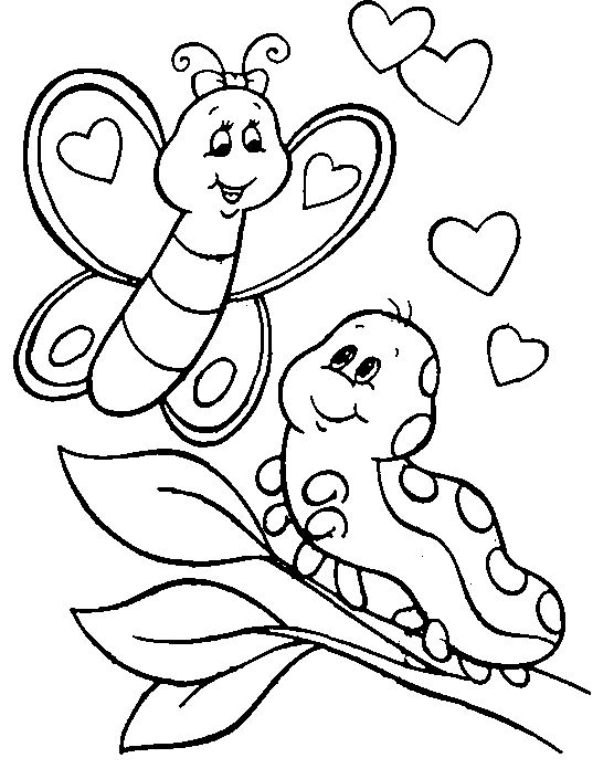 coloring pages of butterflies and caterpillars - Google Search ...