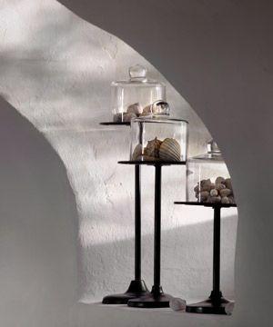 Serviteur à gâteaux sur pied métal avec cloche en verre Athezza ...