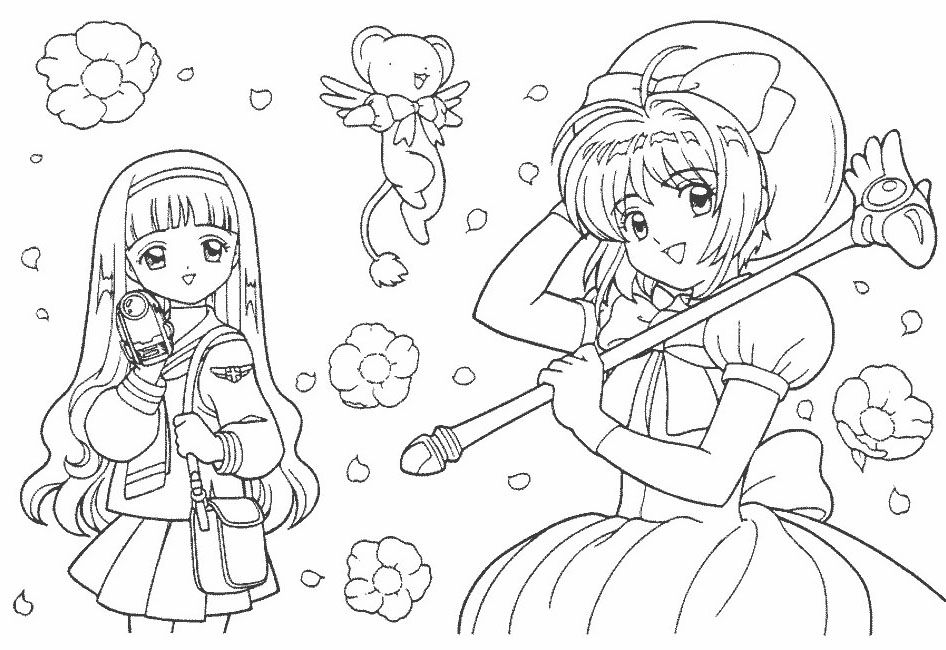 Cardcaptor Sakura Coloring Pages Best Coloring Pages For Kids Disney Coloring Sheets Coloring Pages Cute Coloring Pages