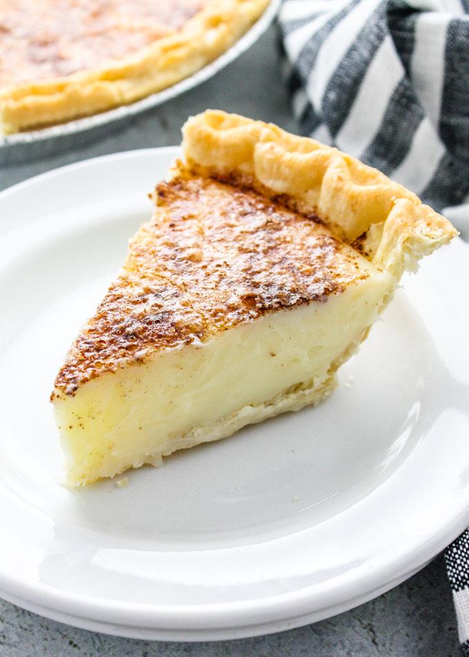 Sugar Cream Pie | Hoosier Indian Sweet Cream Pie | Baked in AZ