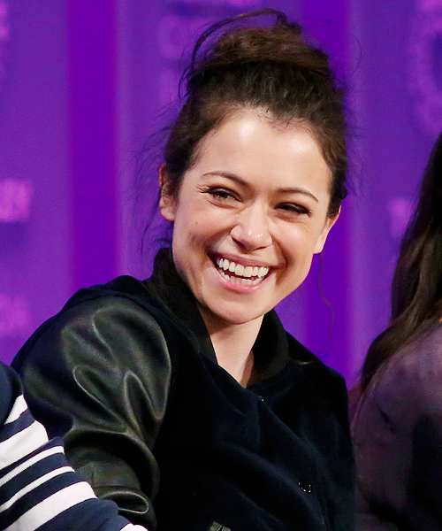 i came back for you — Tatiana Maslany during the 'Orphan Black' panel at...