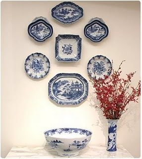 Decorating with Blue and White China