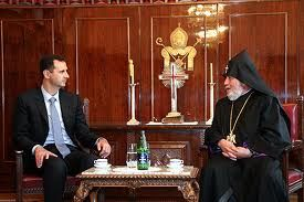 Syrian President Dr Bashar Al Assad With The Armenian Pope Syrian Taper Candle Candles