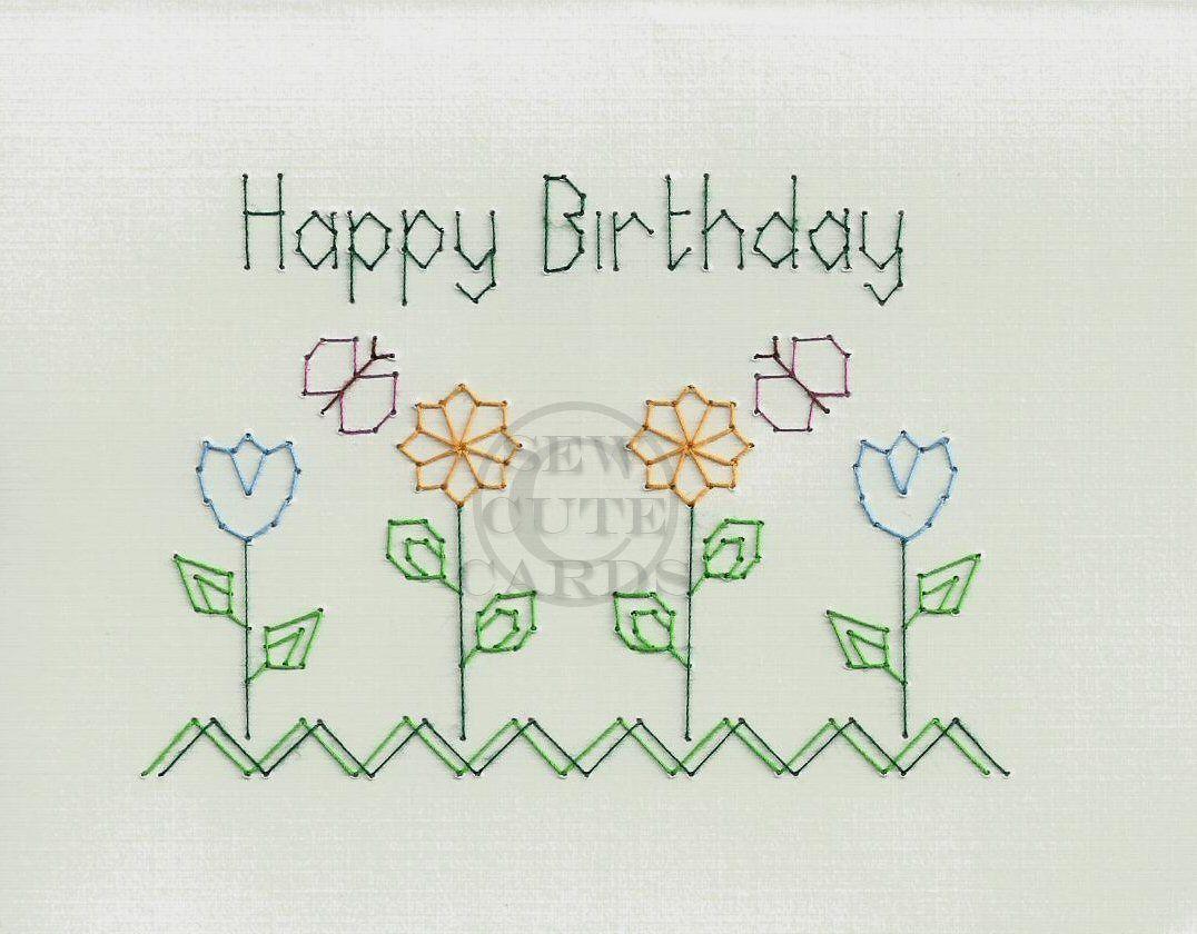 Happy Birthday by Sew Cute Cards  www.facebook.com/sewcutecards http://sewcute.storenvy.com