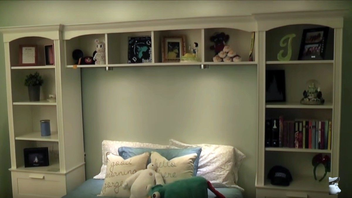 Tiny Box Room Ikea Stuva Loft Bed Making The Most Of: Bed Bridge Bookcase From IKEA BRIMNES + BILLY