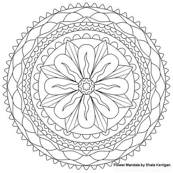 Abstract Spring Coloring Pages : Abstract coloring pages come in a wide range of varieties