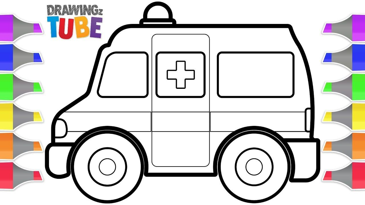 Toy Ambulance Drawing And Coloring For Kids Drawing For Kids Educati Coloring For Kids Drawing For Kids Drawing Videos For Kids