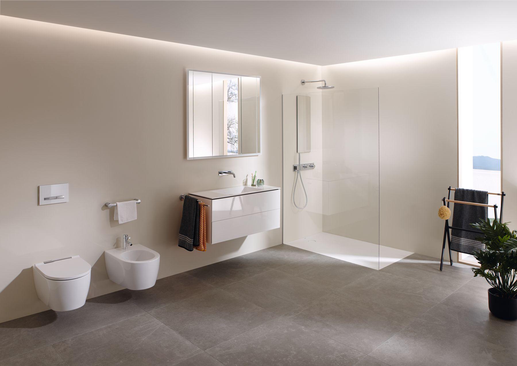 Deze Badkamer Is Werkelijk Tijdloos De Linnen Kleur Beige Of Ecru Zijn Simpel En Elegant En Creeren Een Serene En Natuurl Onder Kast Badkamermeubels Badkamer